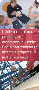 Aricia Limited - while most of our projects are measured in weeks, Aricia has completed effective projects in just a few days